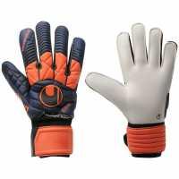 Uhlsport Мъжки Ръкавици Eliminator Super Soft Goalkeeper Gloves Mens Navy/Orange Футболни аксесоари
