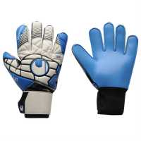 Uhlsport Вратарски Ръкавици Eliminator Competition Goalkeeper Gloves Grey/Wht/Blue Ръкавици шапки и шалове