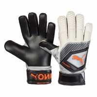 Puma Мъжки Ръкавици One Protect 3 Goalkeeper Gloves Mens Blk/Wht/Orange Футболни аксесоари