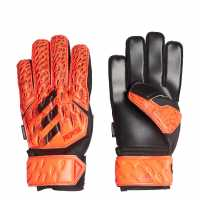 Adidas Вратарски Ръкавици Predator Match Junior Goalkeeper Gloves Fingersave SolarRed/Black Вратарски ръкавици и облекло