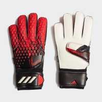 Adidas Вратарски Ръкавици Predator Match Goalkeeper Gloves Fingersave Black/Red Вратарски ръкавици и облекло