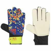 Adidas Junior Mens Predator Training Gloves Blue Yellow Вратарски ръкавици и облекло