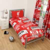 Team Football Single Duvet Set Liverpool Футболни аксесоари