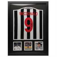 Ръчно Подписана Тениска Malc Macdonald Hand Signed Shirt Black/White Сувенири
