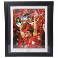 Steven Gerrard Signed Liverpool Photo Champs League Сувенири