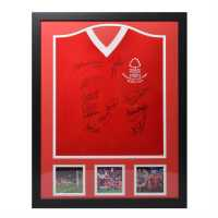 Nottingham Forest 1979 European Cup Final Signed Shirt 80 Euro Cup Сувенири