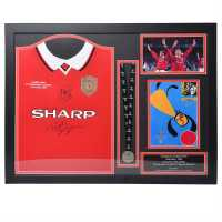 Team Gunnar Solskjaer And Teddy Sheringham Signed Shirt - Сувенири
