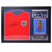 Team Sir Geoff Hurst Signed England 1966 Shirt 66 World Cup Сувенири