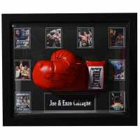 Joe And Enzo Calzaghe Boxing Hand Signed Glove Doomed Glove Подаръци и играчки