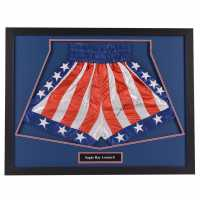 Ray Leonard Hand Signed Trunks Sugar Ray Сувенири