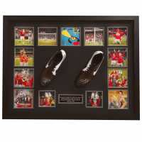 Team Frame Hand Signed Sheringham And Solskjaer Boots  Сувенири