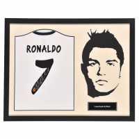 Ръчно Подписана Тениска Ronaldo Ronaldo Hand Signed Shirt Madrid Silhouet Сувенири