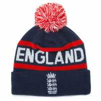 England Cricket Rex Bobble Cap Navy/Red Шапки с козирка