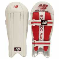 New Balance Tc 860 Wicket Keeping Pads Red/White Крикет