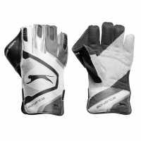Slazenger Advance Wicket Keeper Gloves White/Grey Крикет