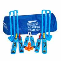 Slazenger Academy Team Plastic Cricket Set Blue Комплекти за крикет