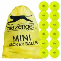 Slazenger Mini Hockey Balls Yellow Хокей