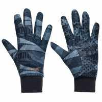 Slazenger Ladies Winter Gloves Navy AOP Голф ръкавици