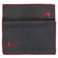 Nike Tour Microfiber Golf Towel Grey/Orange Хавлиени кърпи