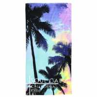 Soulcal Beach Towel Blue/Print Хавлиени кърпи