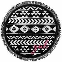 Gul Circle Beach Towel Black/White Воден спорт