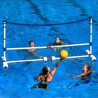 Other Brands Pool Volleyball Set White/Blue Воден спорт