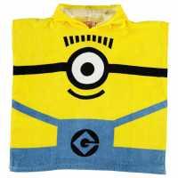 Character Детско Пончо Towel Poncho Infant Minion Boy Хавлиени кърпи