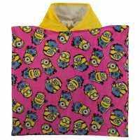 Character Детско Пончо Towel Poncho Infant Minion Girl Хавлиени кърпи