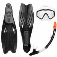 Gul Mask Snorkel And Fin Set Adults Black Воден спорт