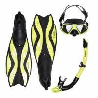 Gul Mask Snorkel And Fin Set Adults Yellow/Black Воден спорт