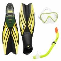 Gul Mask Snorkel And Fin Set Children Yellow Воден спорт