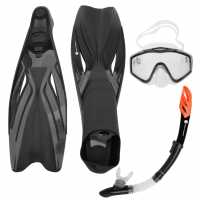 Hot Tuna Mask Snorkel Fin Set Unisex Adults Black Воден спорт