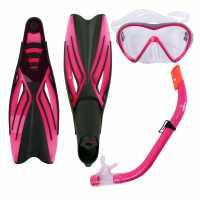 Hot Tuna Juniors Mask Snorkle Fin Set Pink Воден спорт