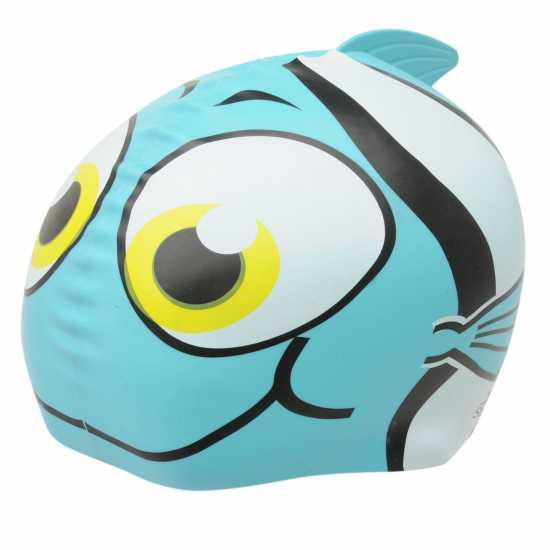 99c9c7f3d37 Slazenger Kids Fun Silicone Cap Blue fish Плувни очила и шапки