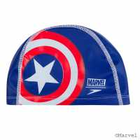 Speedo Marvel Swimming Cap Adults Captian America Воден спорт
