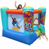 Happy Hop Fantastic Skate 7Ft X 6.5Ft Childrens Bouncy Castle Multi Подаръци и играчки
