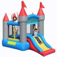 Happy Hop Hop Medieval Pentagon Bouncy Castle With Slide Multi Подаръци и играчки