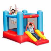 Happy Hop Hop Inflatable Bouncer With Basketball Hoop  Подаръци и играчки