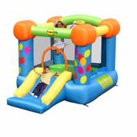Happy Hop 9Ft X 7Ft Party Slide And Hoop Bouncer Multi Подаръци и играчки