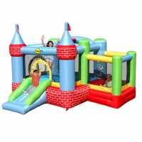 Happy Hop Hop Farmyard Bouncy Castle With Slide And Ballpool Pit Multi Подаръци и играчки