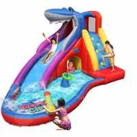 Happy Hop Sharks Club Inflatable 15Ft Mega Water Slide Multi Подаръци и играчки