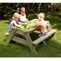 Tp Toys Deluxe Picnic Table Sandpit Wood Подаръци и играчки