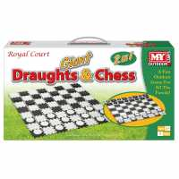 M.y 2 In 1 Giant Draughts And Chess Set  Подаръци и играчки