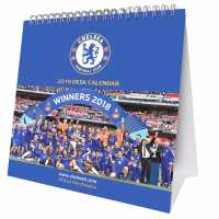 Grange Football Desk Calendar 2019 Chelsea Подаръци и играчки