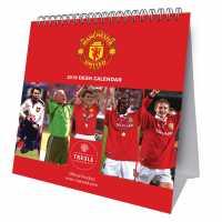 Grange Football Desk Calendar 2019 Man Utd Подаръци и играчки