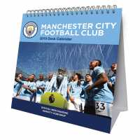 Grange Football Desk Calendar 2019 Man City Подаръци и играчки