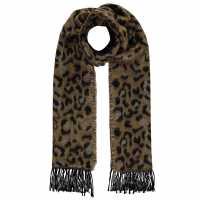 Biba Leopard Print Scarf Leopard Ръкавици шапки и шалове