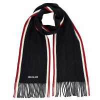 Soulcal Tipped Scarf Mens Navy Ръкавици шапки и шалове