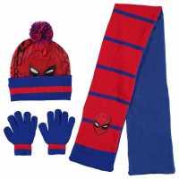 Character 3 Piece Winter Set Childrens Spiderman Шапки с козирка