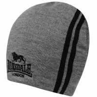Lonsdale Мъжка Шапка Two Stripe Hat Mens Grey Шапки с козирка